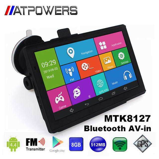Мужской автомобиль gps навигации 7 дюймов wifi gps навигатор tablet GPS Навигатор WIFI AVIN bluetooth Камера HD 800x480 512 М/8 ГБ