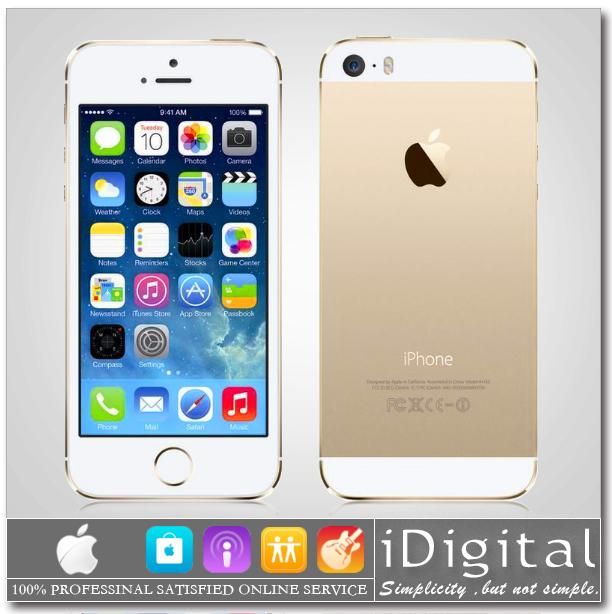 "Original Apple iPhone 5S 16GB/32GB/64GB Unlocked Mobile Phone Dual-core 1.3GHz IOS 8 4.0"" 8MP 1080P Siri WIFI GPS 4G Cell Phone(China (Mainland))"