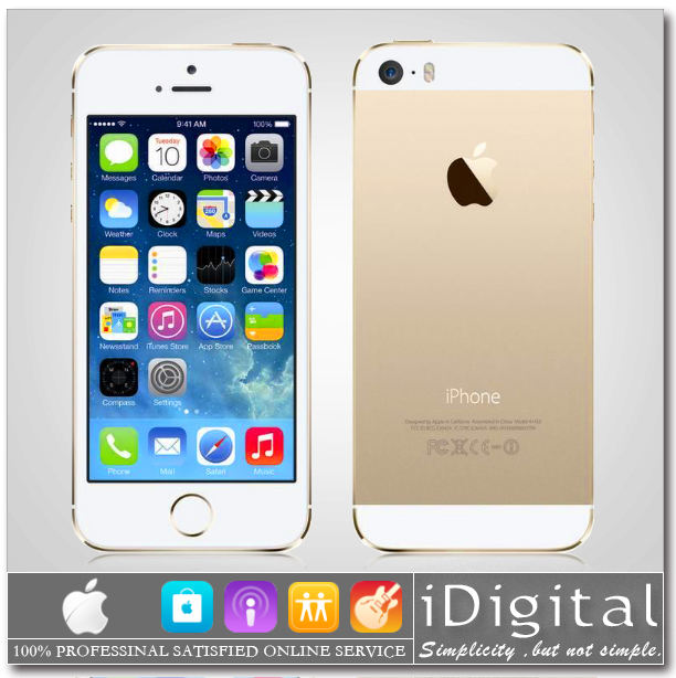 Мобильный телефон Apple iPhone 5S 64GB Unlocked dual/core 1,3 IOS 8 4.0 IPS 8 1080 p 3G WCDMA WIFI GPS NFC купить