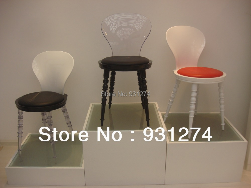 Acrylic Detachable Dining Chair/Lucite Vanity Chair/Plexiglass Living Room Furniture<br>