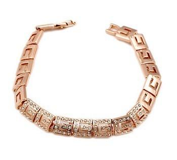 ZHOUYANG Top Quality  Rose Gold Plated Bracelet Jewelry Austrian Crystal CZ Wholesale ZYH018  ZYH198