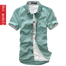 Buy hot 2017 fashion brand men's short sleeve Shirts.Top Summary Table Slim shirt white blue ML XL XXL XXXL Free for $5.67 in AliExpress store