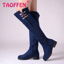 Envío gratis sobre la rodilla botas de cuña mujeres moda de invierno la nieve calzado arranque en caliente tamaño P10572 EUR 34-43(China (Mainland))