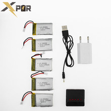 5pcs Xpower Lipo Battery 3 7v 1200Mah With 5in1 USB Fast Charger Box Plug Set For