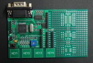 Free shipping PIC16F1937 capacitor type touch button PIC learning board PIC development board(China (Mainland))