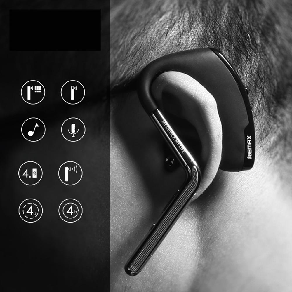 REMAX RB-T5 Universal Bluetooth 4.1 Headset Stereo Sound Wireless Bluetooth Earphone Headphone For Iphone Samsung All Phone<br><br>Aliexpress