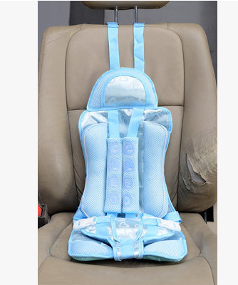 Portable Baby/Children Car Safety Booster Seat Cover Cushion Multi-Function chair Auto Harness Carrier color blue(China (Mainland))