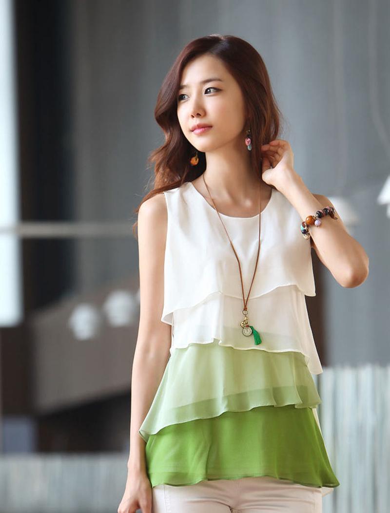 Hot 2015 Women Shirt Cute Candy Color Women Blouse Tropical Tops Casual Chiffon Blouse Cheap Clothes Plus Size S-4XL A4E3050-60(China (Mainland))