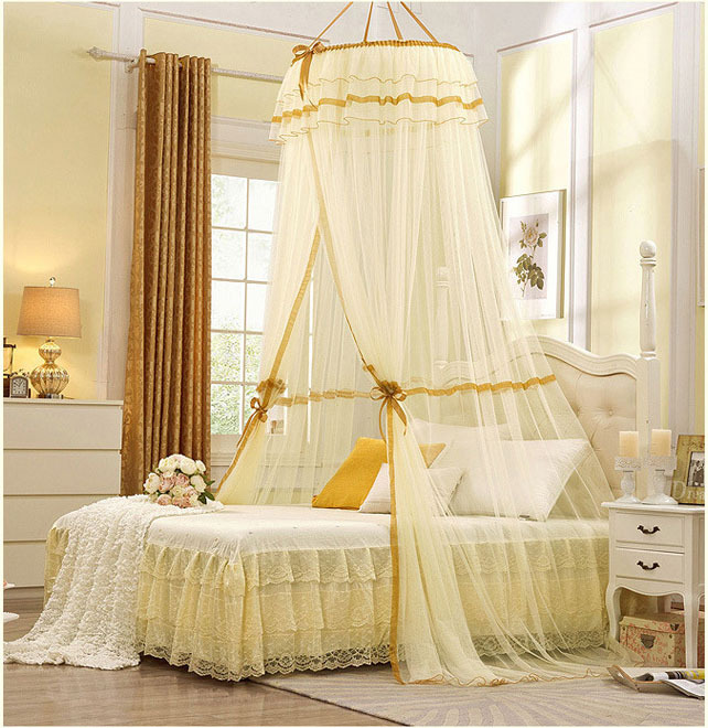 2015 Mosquito Nets Curtain for Bedding Set 5 Colors Princess Bed Canopy Bed Netting Tent Mosquiteiros De Teto Magic Mesh(China (Mainland))