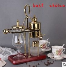 Free shipping Belgium-style Royal domestic coffee maker stainless steel coffee machine high quality Vacuum Syphon Coffee Maker )(China (Mainland))