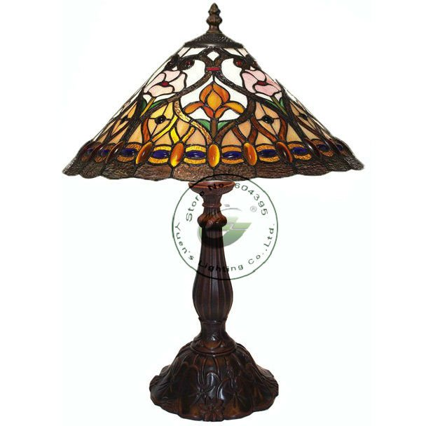 Dia.12 inch Classical Tiffany style Stained Glass Table Lamps,YSL-TD0137B(China (Mainland))