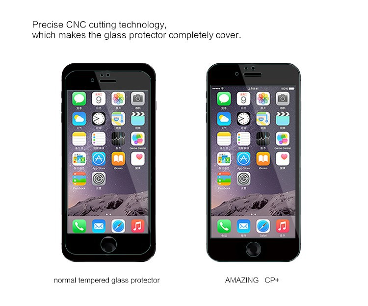 "Nillkin AMAZING CP+ Anti-Explosion Tempered Glass Screen protector for Apple iPhone 6 4.7"" Black Colour with Retail Box"