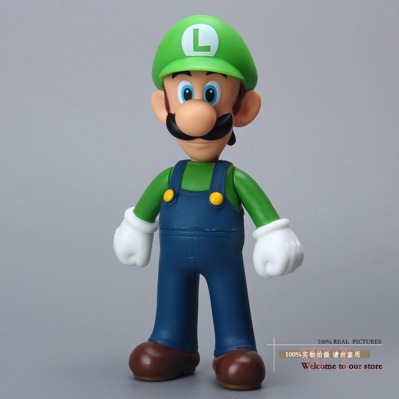 Free Shipping Super Mario Bros Figures Luigi Mario PVC Action Figure Model Toy Doll 5.2