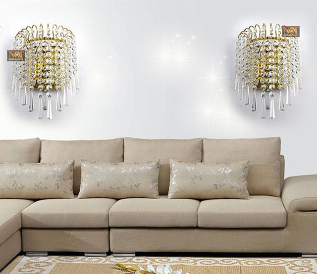 Aliexpress.com : Acquista Led moderna crystal wall luce abajur luz ...