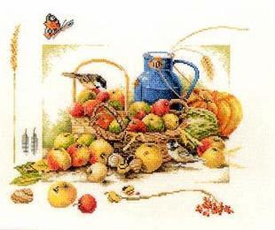 Top Quality Lovely Cute Counted Cross Stitch Kit Lanarte Summer Fruit and Bird Butterfly 34368(China (Mainland))