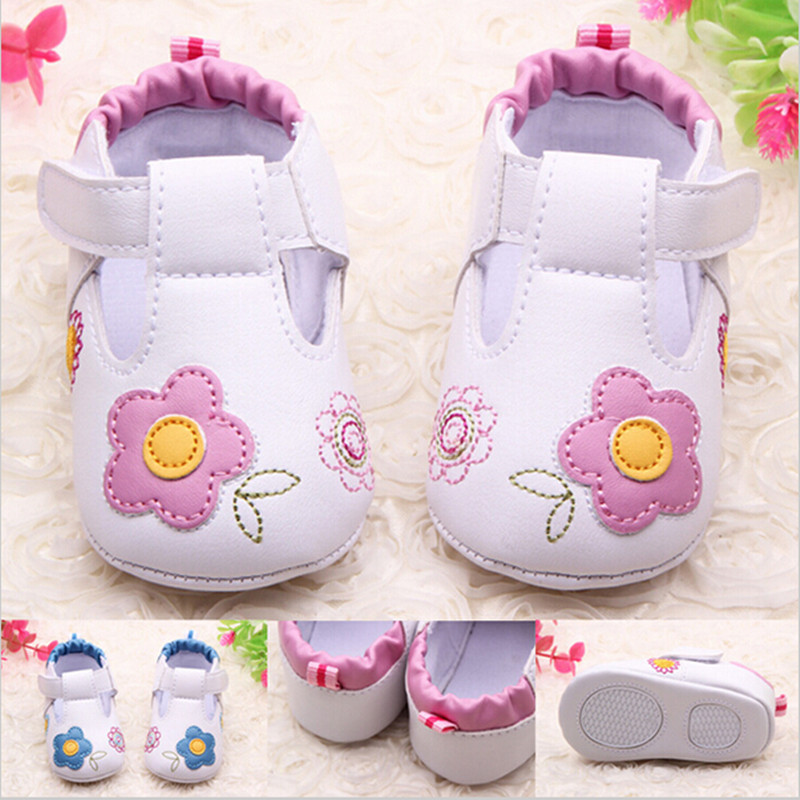 First walkers girls pink flower first walkers girls floral soft sole hook and loop baby shoes bow summer<br><br>Aliexpress
