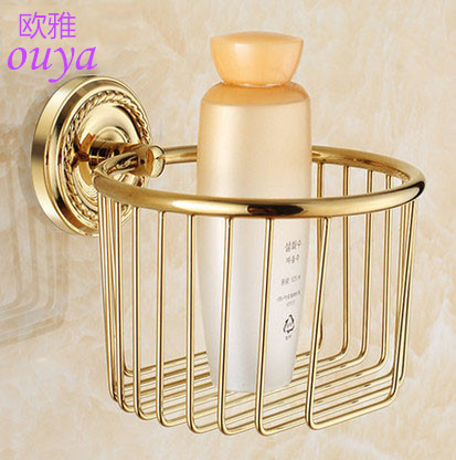 2015 Wall Mounted brass gold paper box roll holder toilet gold paper holder tissue box kitchen paper holder Bathroom Accessories(China (Mainland))