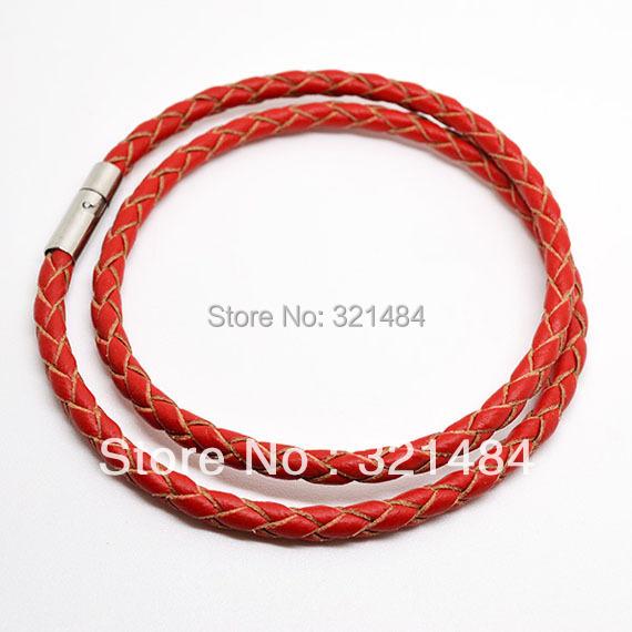 Здесь можно купить  Free shipping!!! 50PCS 18inch 3mm Red Braided Guniune Leather Cord Necklace For Pendant Jewelry  Ювелирные изделия и часы