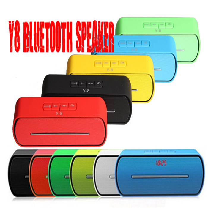 Wireless Y8 Bluetooth Speaker USB Flash Driver FM TF Card Wireless Hands-free For iphone 4 5 6 for Samsung S5 S3 note 2 3(China (Mainland))