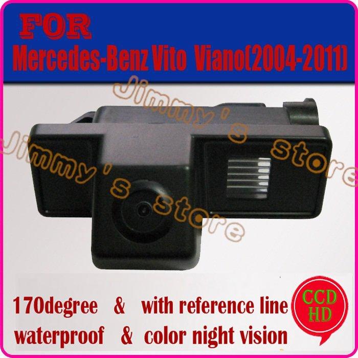 CCD HD car rear view camera rearview system paking camera for Benz(Mercedes) Vito / Viano(2004-2011) night vision(China (Mainland))
