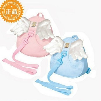Shoulder bag high quality baby anti-lost package free shipping hot children school bags baby with angel wings 1pcs/lot wholesale