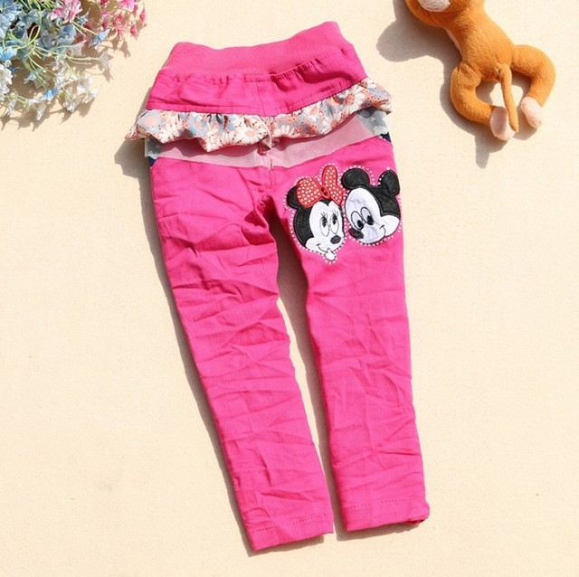 2013 Spring Autumn Girls Mickey pant kids pants Baby Clothing Wear 4 piece/lot