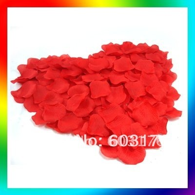 Free Shipping 2pack/lot Red Heart Silk Rose Petals Wedding Chrismas Valentine Party Decorations