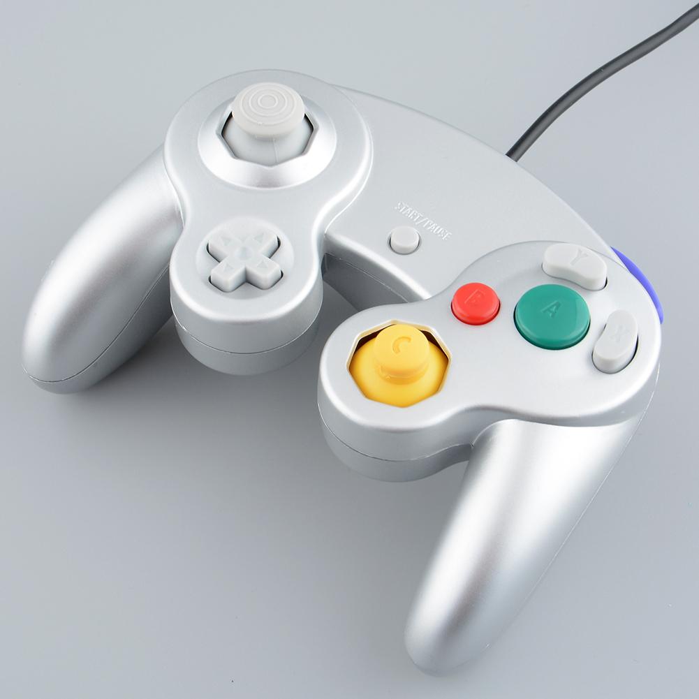 Hot Classic Wired Controller Joypad Gamepad Joystick Handheld For Nintendo Wii GameCube GC NGC Silver(China (Mainland))