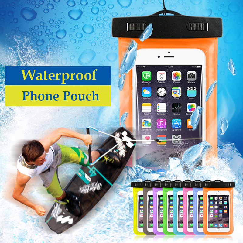 Waterproof Mobile Phone Bags with Strap Dry Pouch Cases Cover for Samsung galaxy S7 for iPhone 6 5S SE 6S Plus Swimming Case New(China (Mainland))