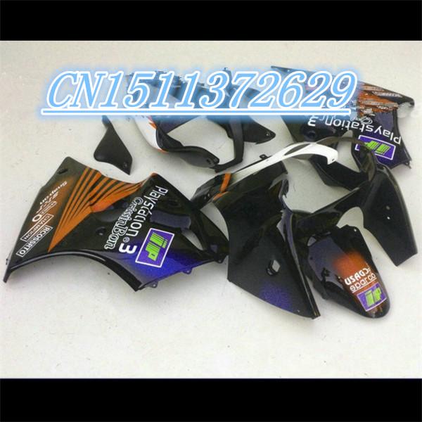 2000 2001 2002 popular Kawasaki ZX6R fairing 00 01 02 custom brown black racing motorcycle fairings kits motor parts(China (Mainland))