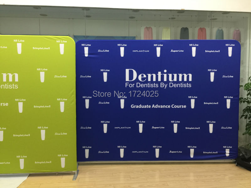 8ft Straight Tension Fabric Display Stand for Promotion & Exhibition , 8ft Straight Trade Show Back Ground Wall with Printing(China (Mainland))
