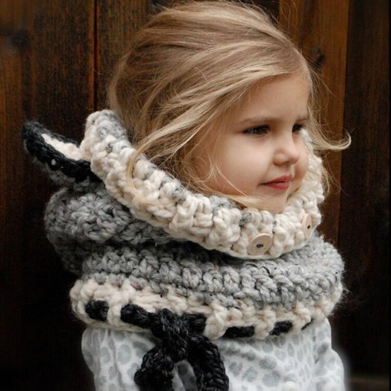 Kids Scarf Baby Hats Bandana Bibs 2017 Winter Knitted Baby Hat Animal Style Baby Muts Warm Newborn Hat Adjustable Children Cap