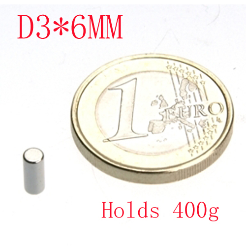 wholesale 100pcs D3x6mm 3*6 rod magnet powerful craft neodymium magnets earth permanent strong n50 n52 holds 320g<br>