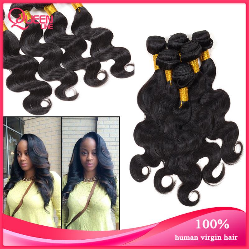 Ms Lula Hair Products Peruvian Virgin Hair Body Wave 4 pcs lot Human Hair Extensions Peruvian Body Wave Wavy Weave Bundles(China (Mainland))