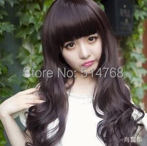 Girl's Fashion Long Curly Full Hair Bangs Wigs Little Pear Flower Party - Yiwu Will Shop store