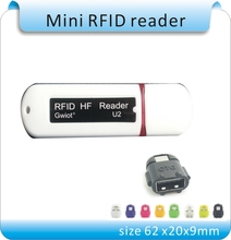 Buy Free Newest Mini USB 13.56MHZ RFID Reader iPad Android Mac Windows Linux +10pcs cards for $14.31 in AliExpress store