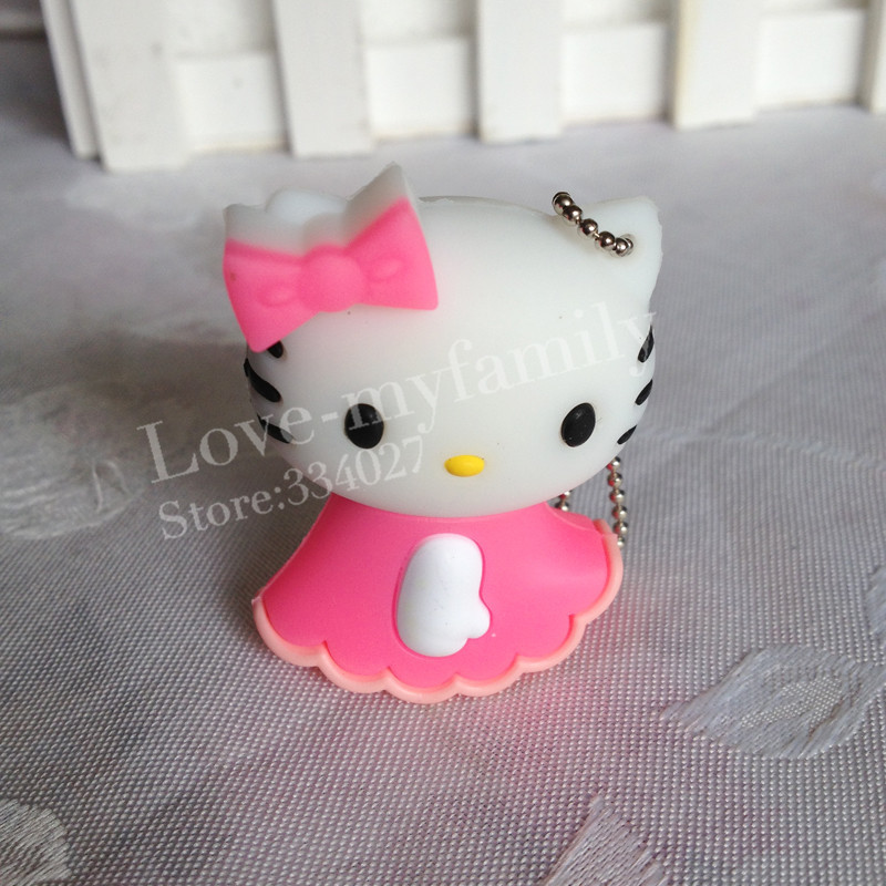 pen drive cartoon hello kitty 4gb/8gb/16gb/32gb bulk usb flash drive flash memory stick pendrive mini free shipping()