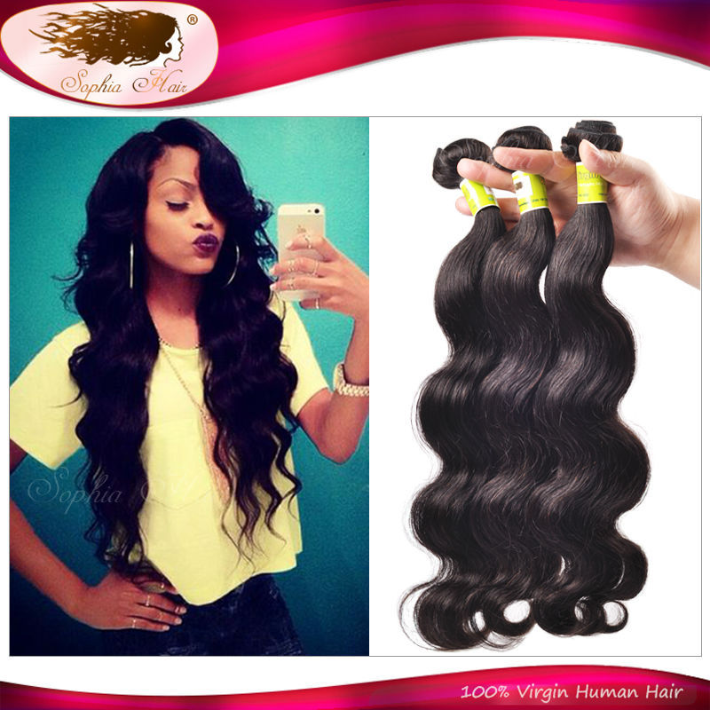 3Pcs/Lot Indian Virgin Hair Body Wave 6A Virgin Indian Hair Mixed Length Unprocessed Indian Hair Bundles Cheap Human Hair Weave(China (Mainland))