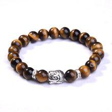 Buy 8mm Buddha Beads Bracelets Bangles Natural Stone Charm Bracelets Women Men Jewelry 2016 Bracciali lava pulseiras for $1.29 in AliExpress store