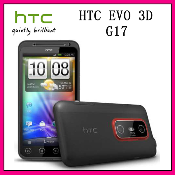 """Original type HTC EVO 3 d X515m G17 Android 2.3 GPS wireless 5 mp 4.3 """"touch screen unlock the phone free shipping!! Refurbished(China (Mainland))"""