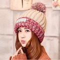 2016 Winter casual warm Knitted Cap for women Fashion Skullies Beanies High quality Cute Winter Cap