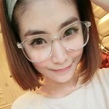 D 2016 new women's glasses frame eyeglasses large Metal optical frame clear glasses prescription eyewear color high quality(China (Mainland))