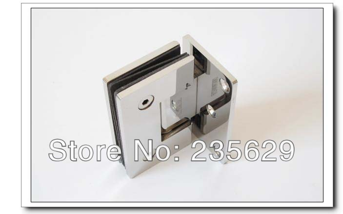 Free Shipping, 304 Stainless Steel 90 degree shower hinge,glass clamp,shower clamp, Mirror finished, Easy installation,durable(China (Mainland))