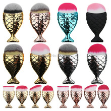 Buy 2017 Fashion Mermaid Makeup Brushes Powder Blush Foundation Cosmetic Tools Fish Brush Contour BB Cream Make Brushes for $1.99 in AliExpress store