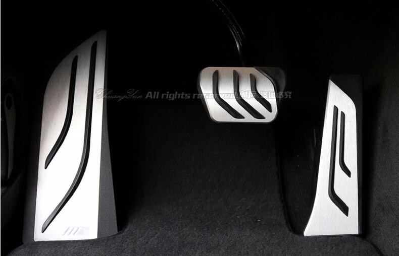 Car Styling For BMW New 5 6 7-series M5 GT 520i 528i 535i 530i X3 Accelerator Brake Foot Rest Pedal Pads,Non-slip Gas Covers