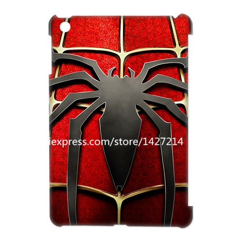 spiderman logo amazing cover For iPad mini 1/For ipad mini 2/3,Cover For ipad 2/3/4/5/6/air/air 2 gen skin shell covers case(China (Mainland))
