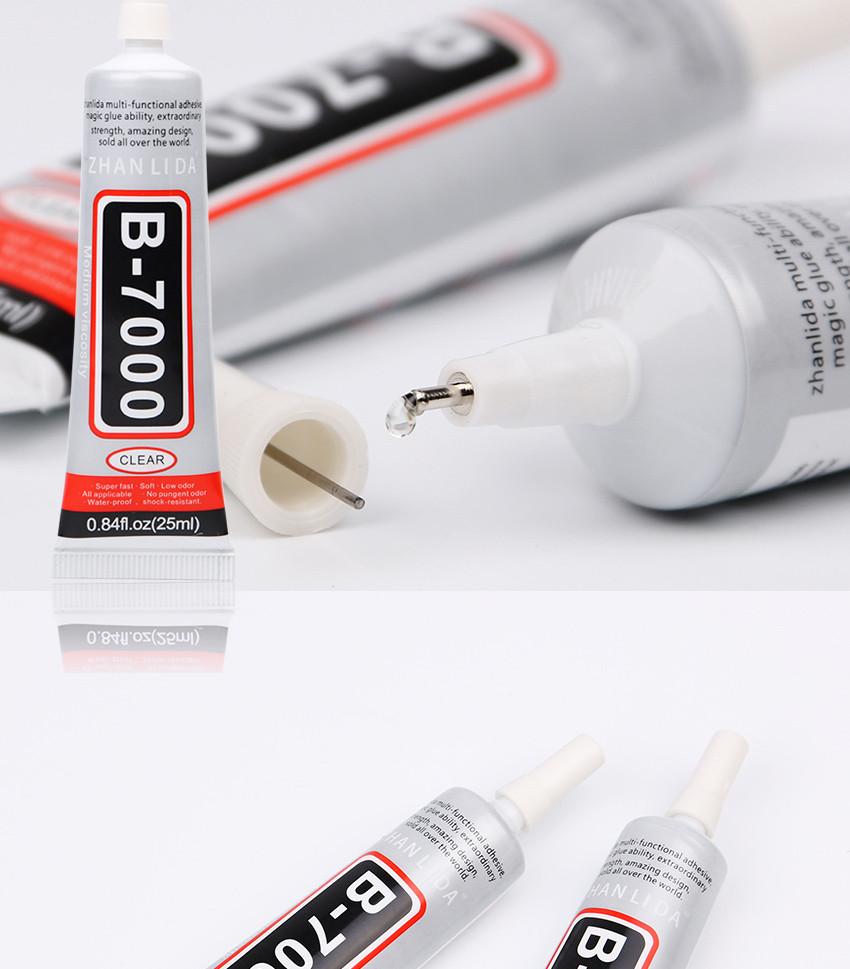 ZHANLIDA Rhinestone Glue B7000 25ML Epoxy Resin Super Glue Sealant For Jewelry Rhinestone Glass Mobile B-7000