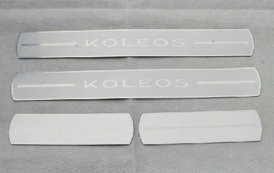 Free shipping 2009-2013 Renault Koleos High quality PVC internal Scuff Plate/Door Sill tygb(China (Mainland))