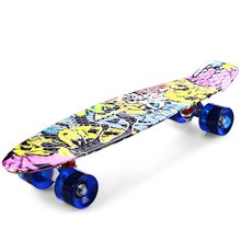 High Quality CL - 85 Printing Street Graffiti Style Skateboard Deck Complete 22 Inch Retro Cruiser Longboard For Child Skate(China (Mainland))