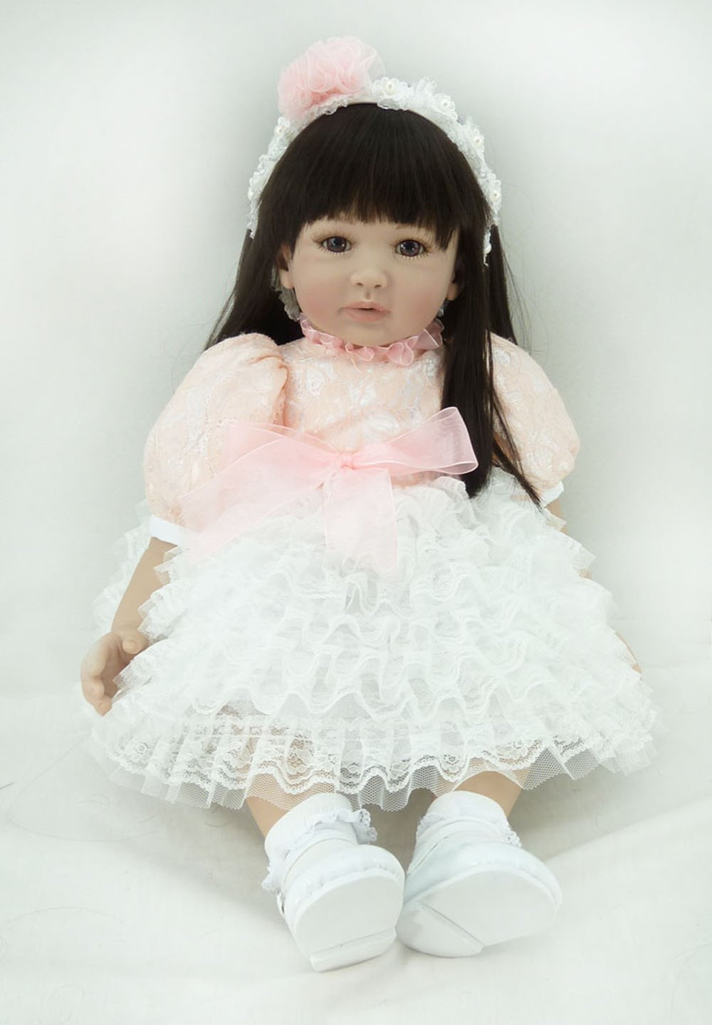 22inch 55cm Silicone baby reborn dolls, lifelike doll reborn babies toys for girl princess gift brinquedos  Children's toys